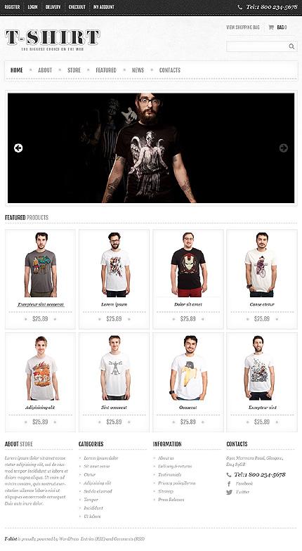 View live Demo for T-Shirt Store - Responsive Fashion Store WordPress Jigoshop Theme
