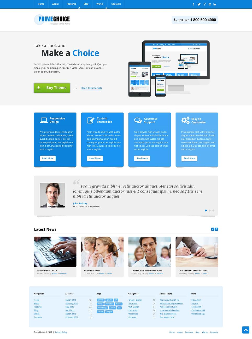 Mild Web Design Wordpress Theme 45311