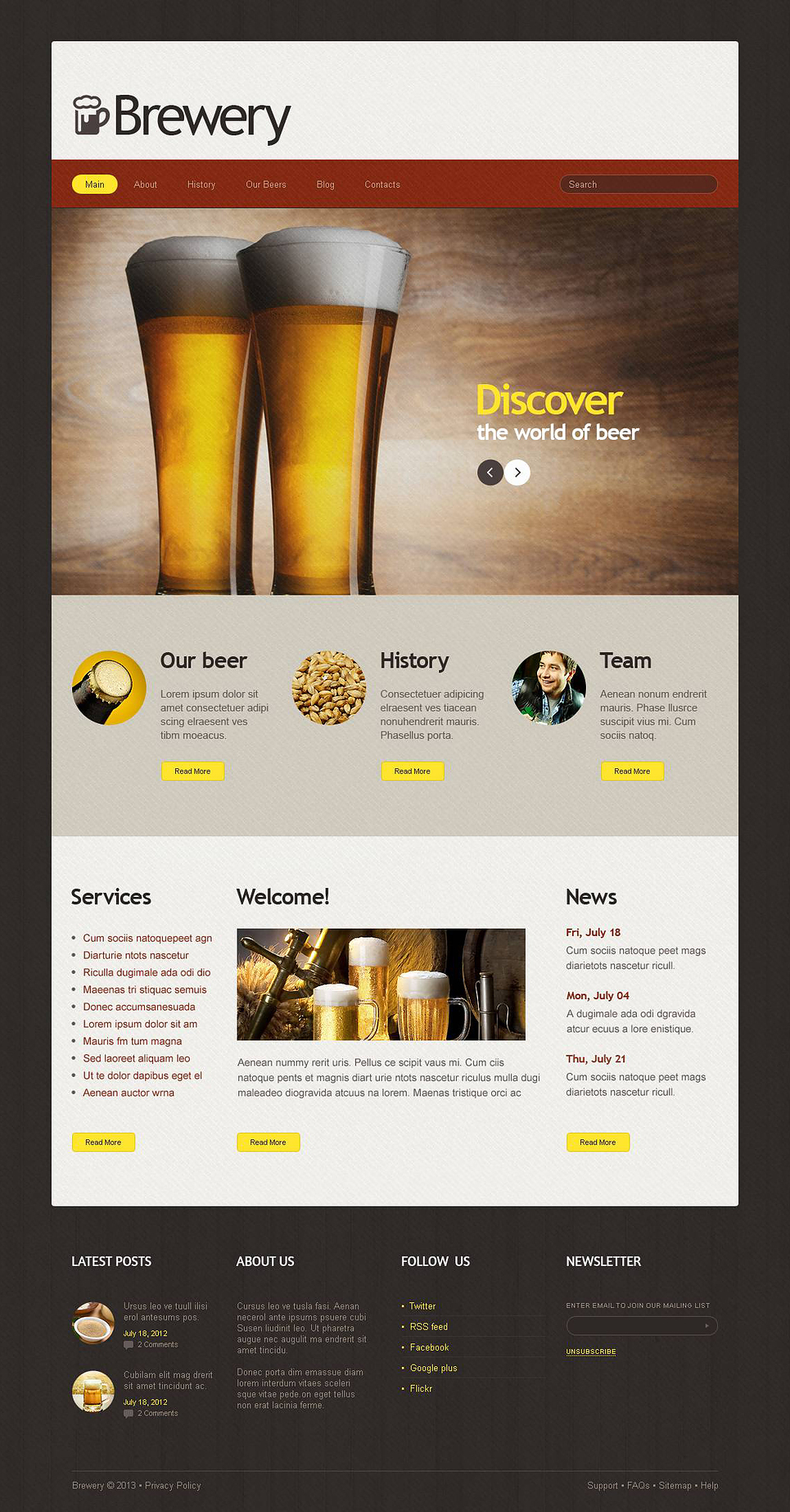 Joomla template 45339 in brewery templates category for Brewery layout software