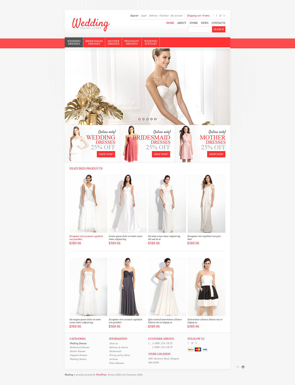 Ultimate Wedding Store JigoShop Theme