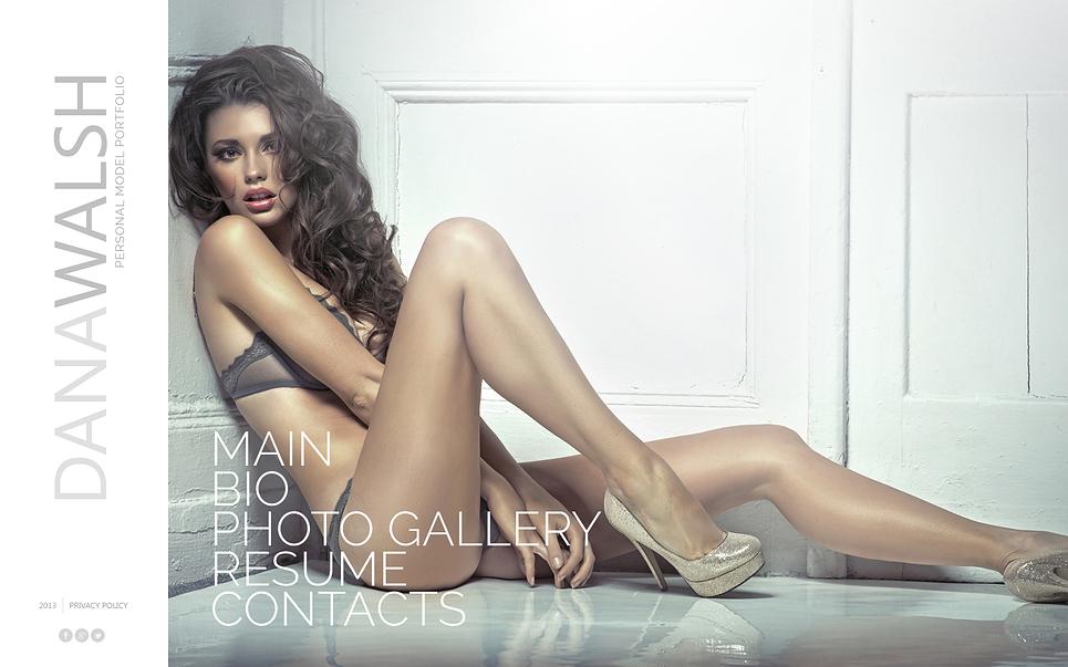 Model Photo Gallery Website Template - Web Design Templates ...