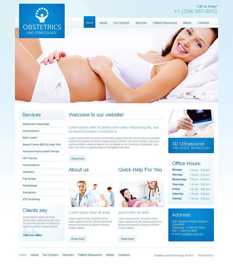 Pregnancy and Gynecology Website Template - image