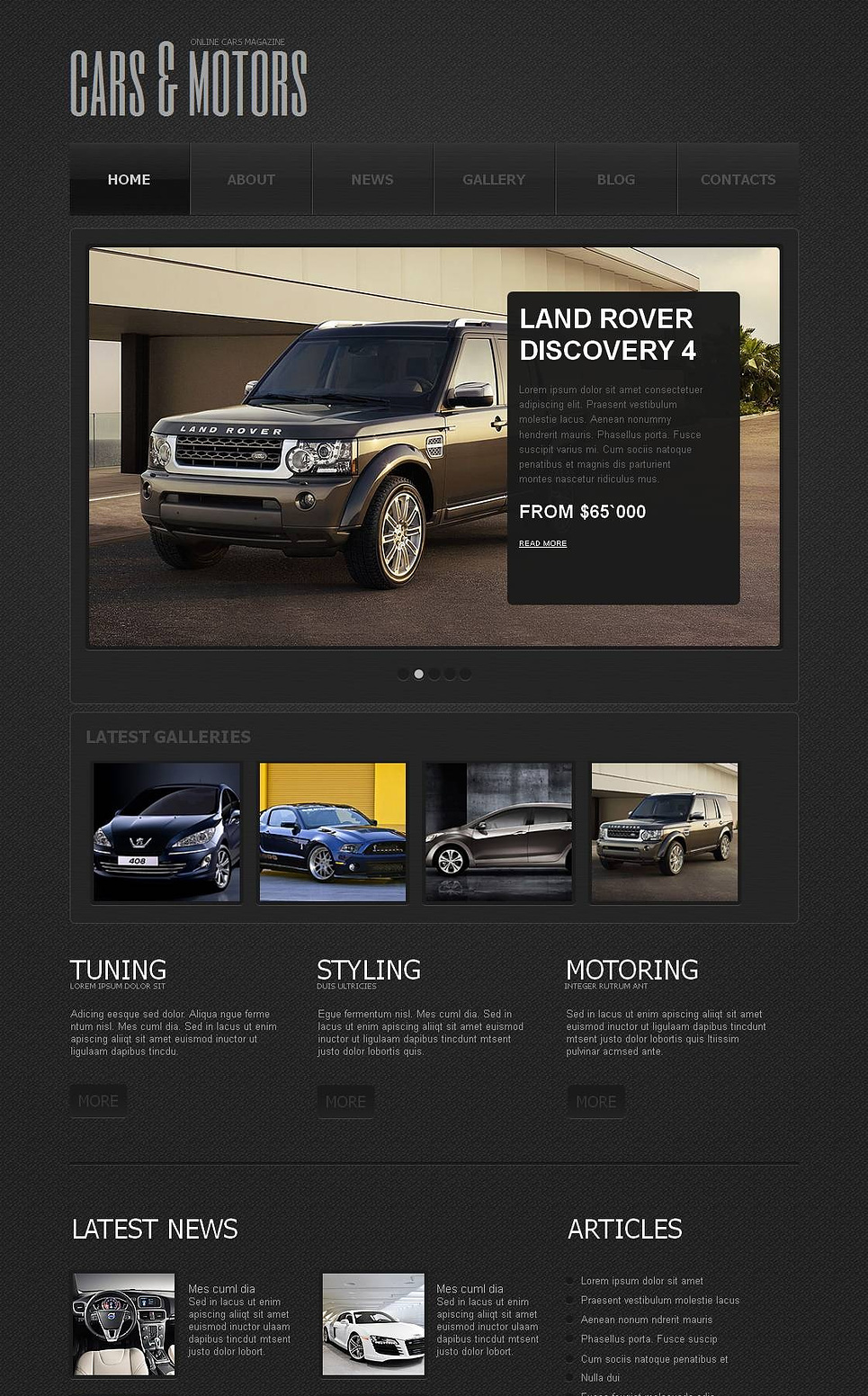 Cars Club Website Template - image