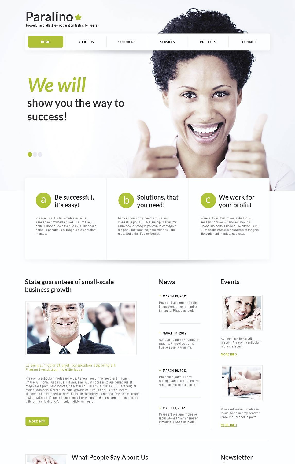 Business Website Template with Green Design Elements - image