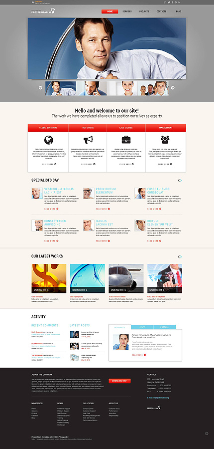 Specialists - Bootstrap Based Responsive Business WordPress Theme