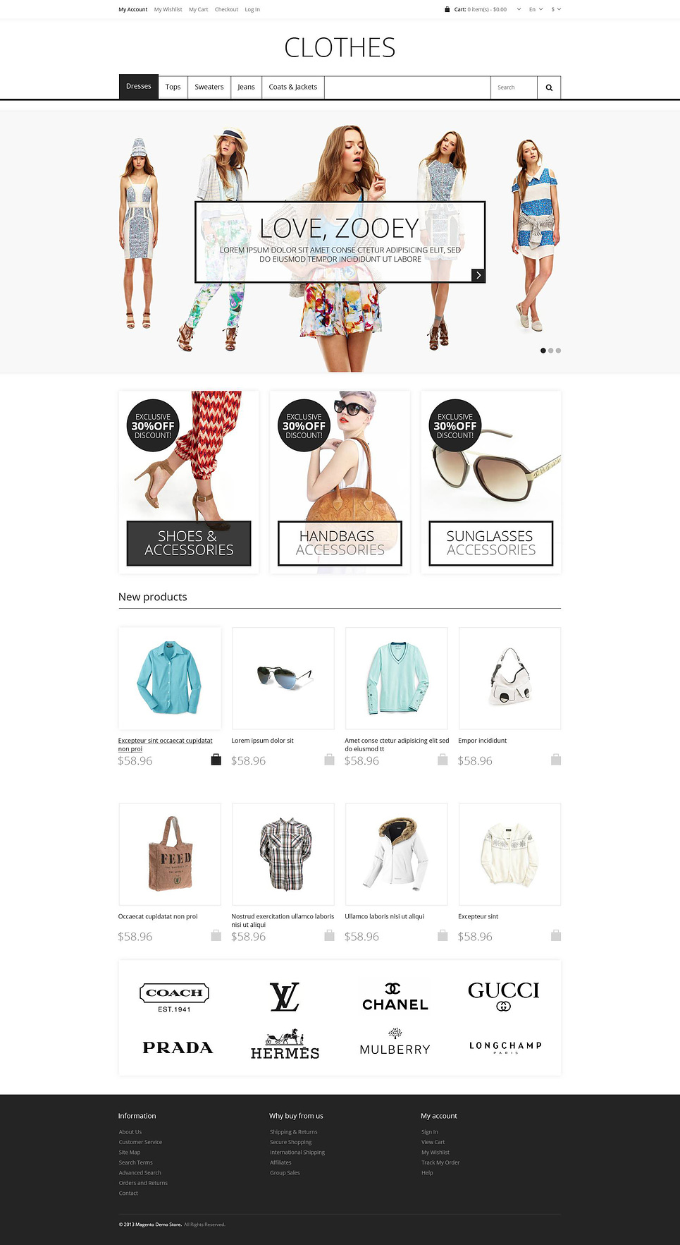 Responsive Clothes Store Magento Theme