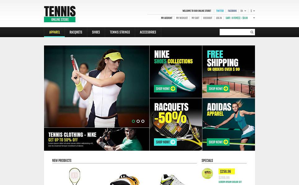 Responsive Tennis Store Magento Theme New Screenshots BIG