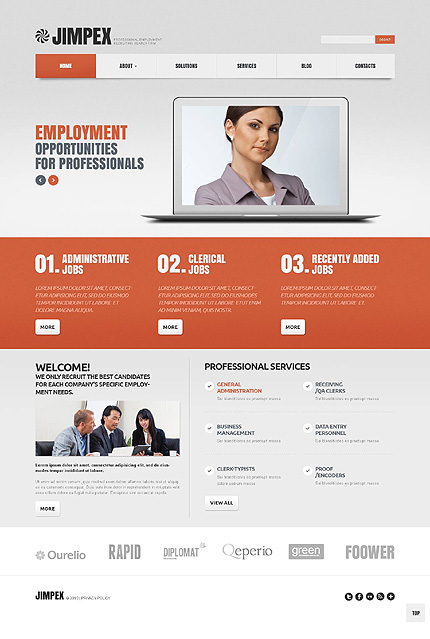 Jimpex - Bootstrap Based Responsive Business WordPress Theme