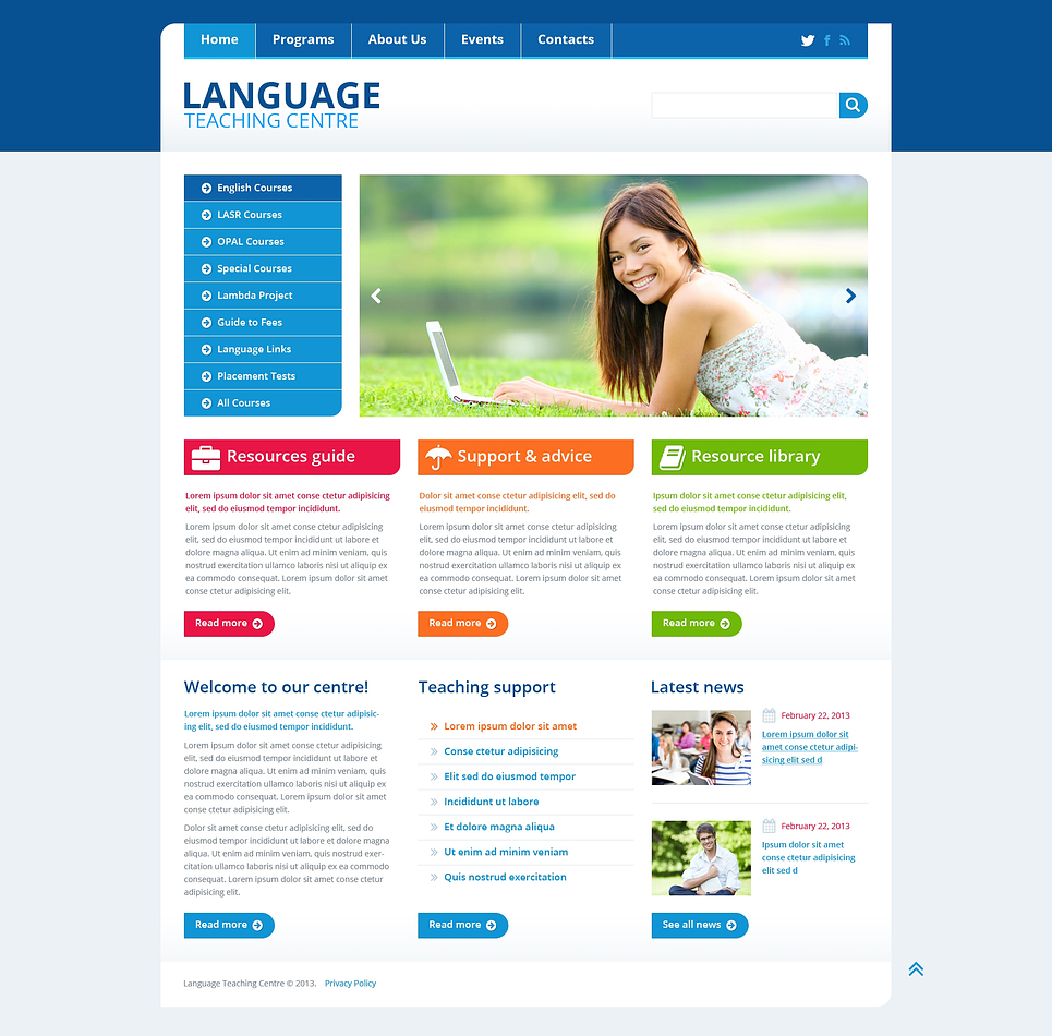 Education Website Templates - DigitalOfficePro