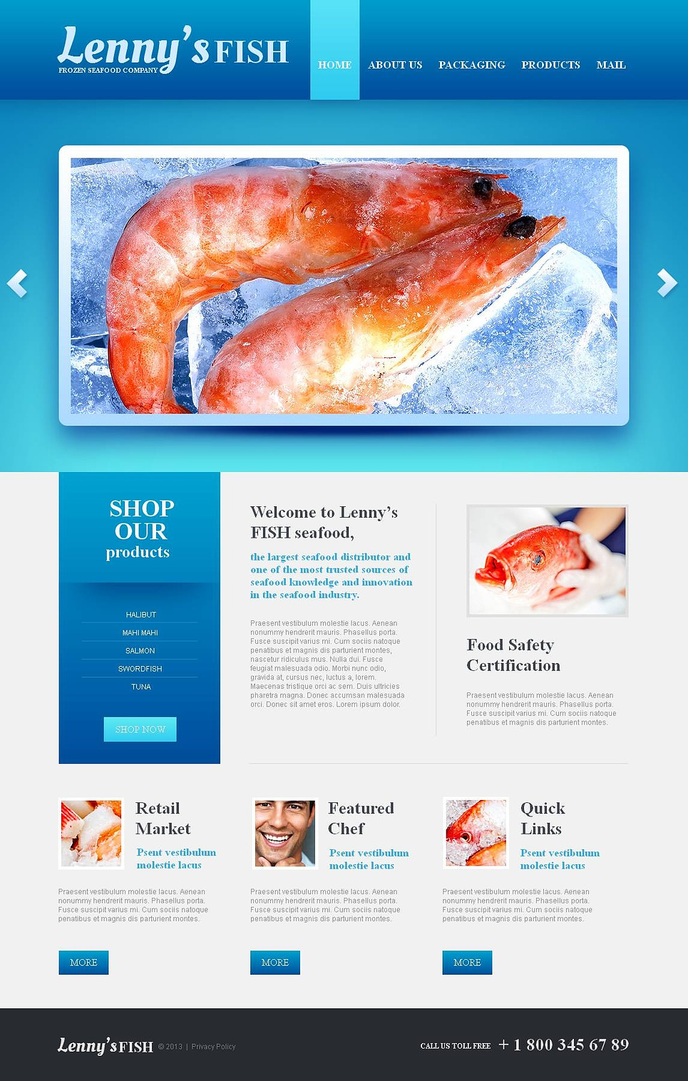 Frozen Seafood Company Website Template - image