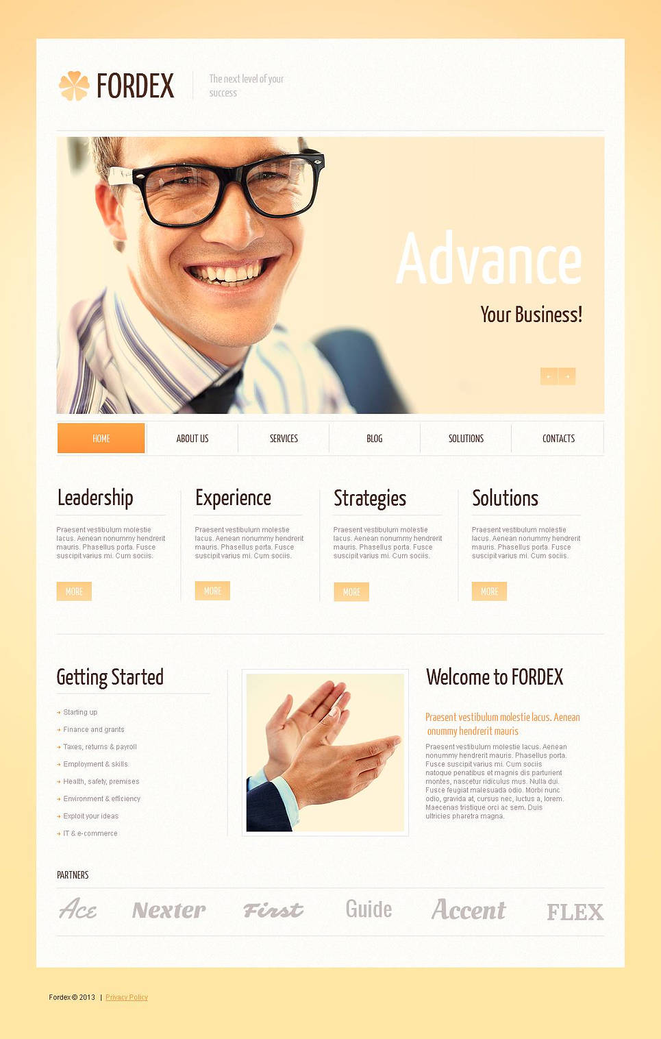 Business Web Template Made in Sunny Colors - image
