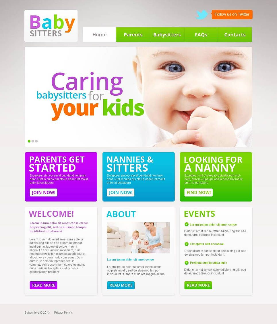 MotoCMS HTML Шаблон #45440 из категории Семья - image