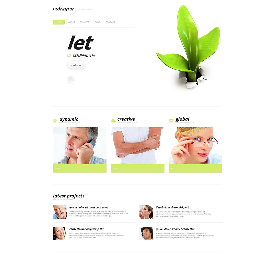 Creative Business Website Template with a Blog - image
