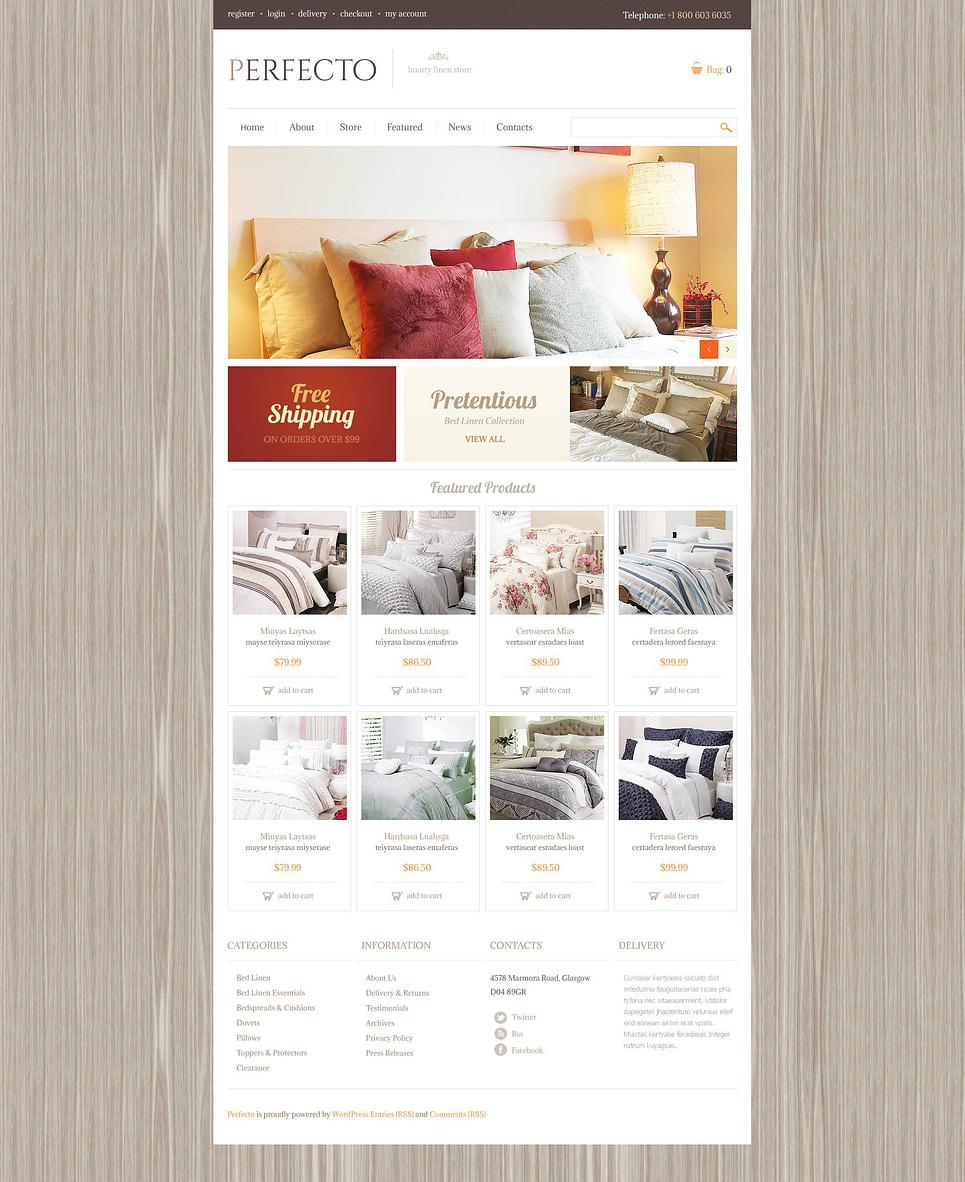 Attractive Luxury Linen Store JigoShop Theme