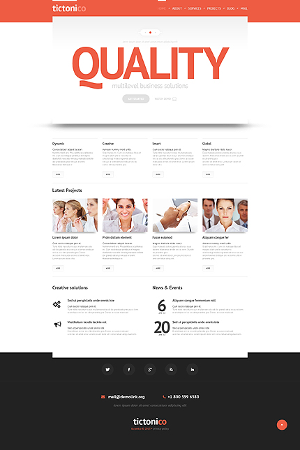 Quality - Bootstrap Based Responsive Business WordPress Theme