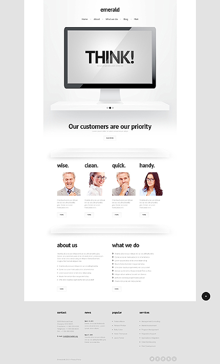 Emerald  - Bootstrap Based Responsive Business WordPress Theme