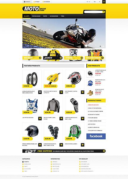 Online Moto Store - Bootstrap Based Responsive Prestashop Bike Store Theme