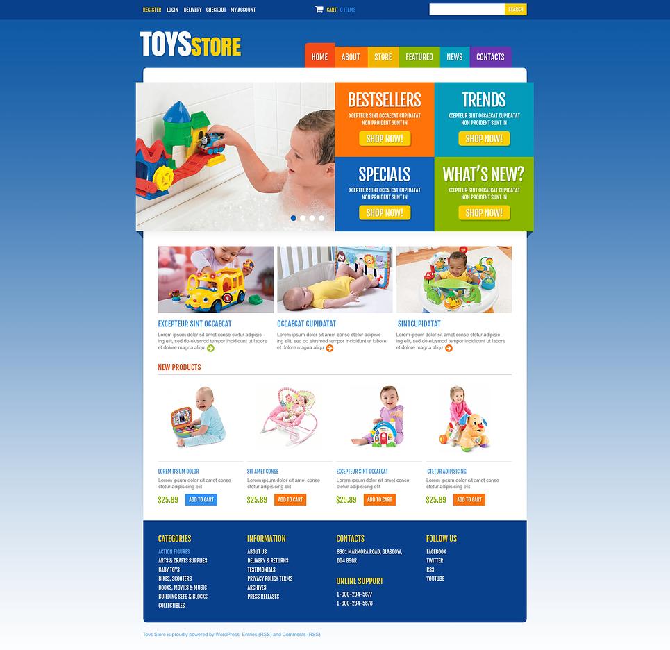 Kindle Toys store JigoShop Theme
