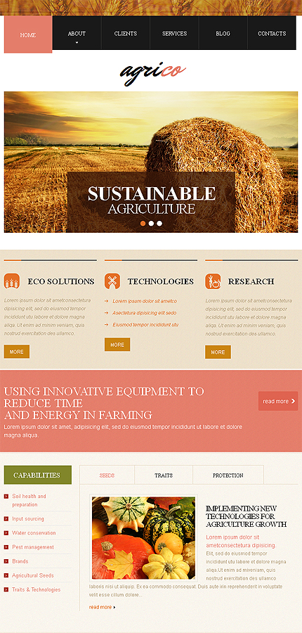 agriculture responsive website template web design templates website templates download. Black Bedroom Furniture Sets. Home Design Ideas