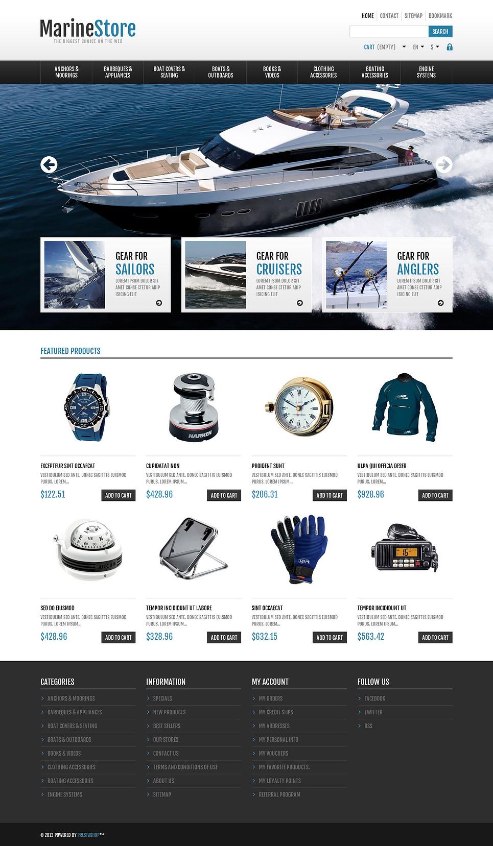 Marine store - Best Responsive PrestaShop Theme
