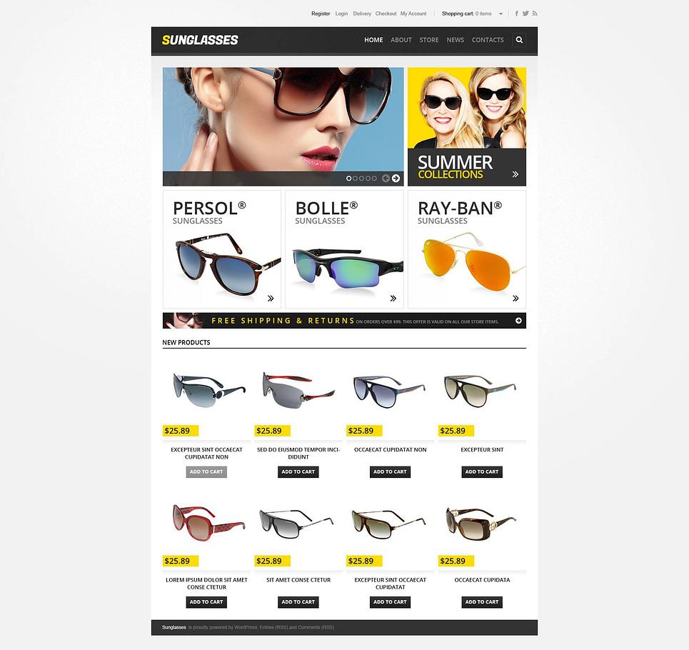 Sunglasses - Stylish Responsive Sunglasses Store Jigoshop Theme