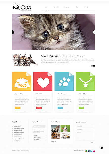 View live Demo for Furry Kitty Animals - A WordPress Fully Responsive Theme