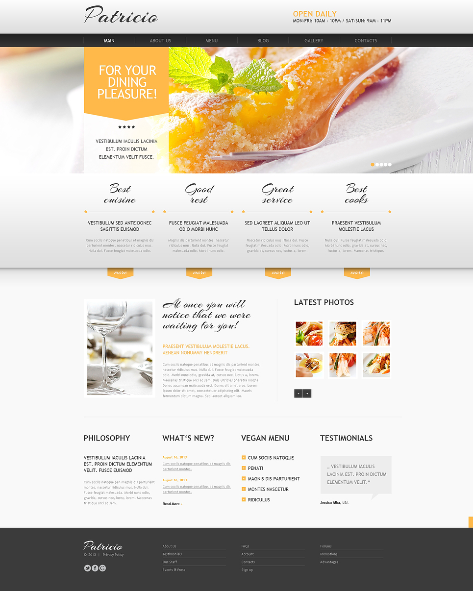 Startling Cafe and Restaurant Joomla Template