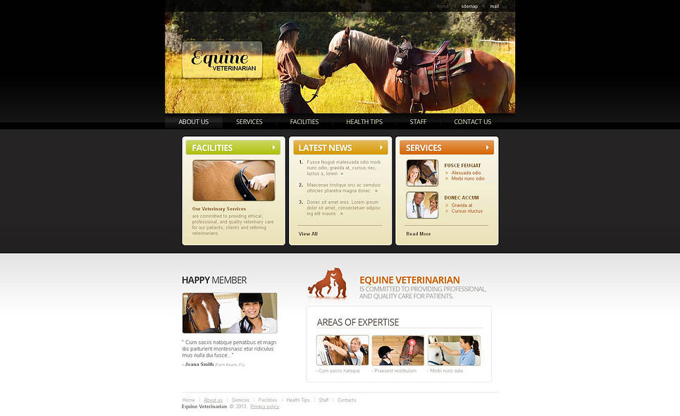 Horse Veterinary Website Template - image