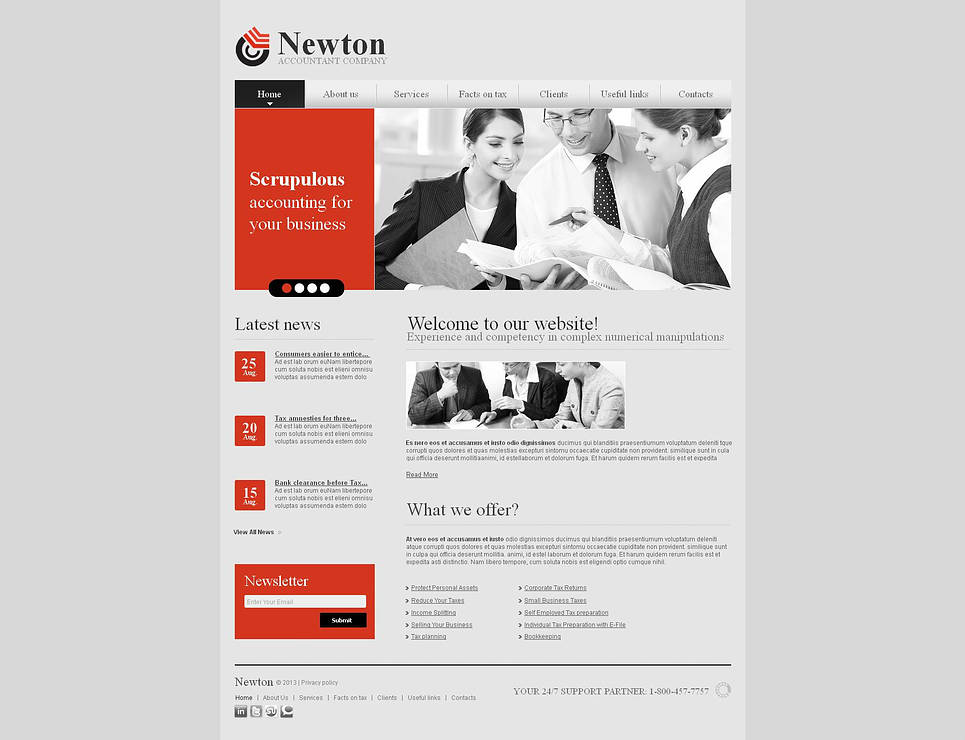 Light Gray Website Template for Accounting Firms - image