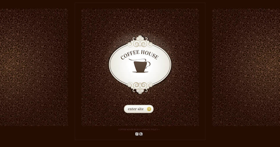 Coffee Website Template with a Splash Page - image