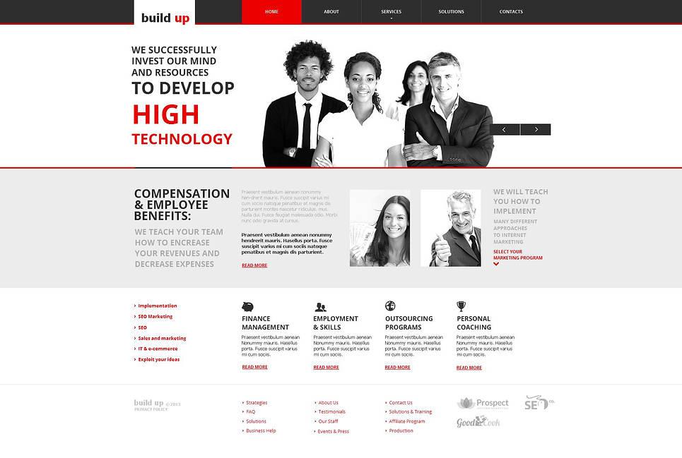 SEO Company Website Template with Drop-Down Menu - image