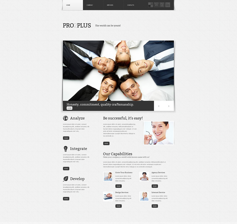 Business Website Template with a White Background - image
