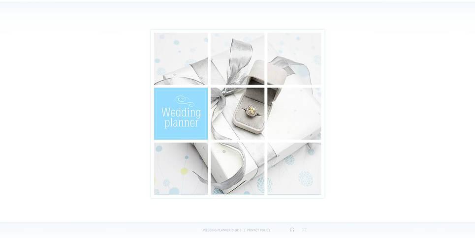 Wedding Planner Flash CMS Template