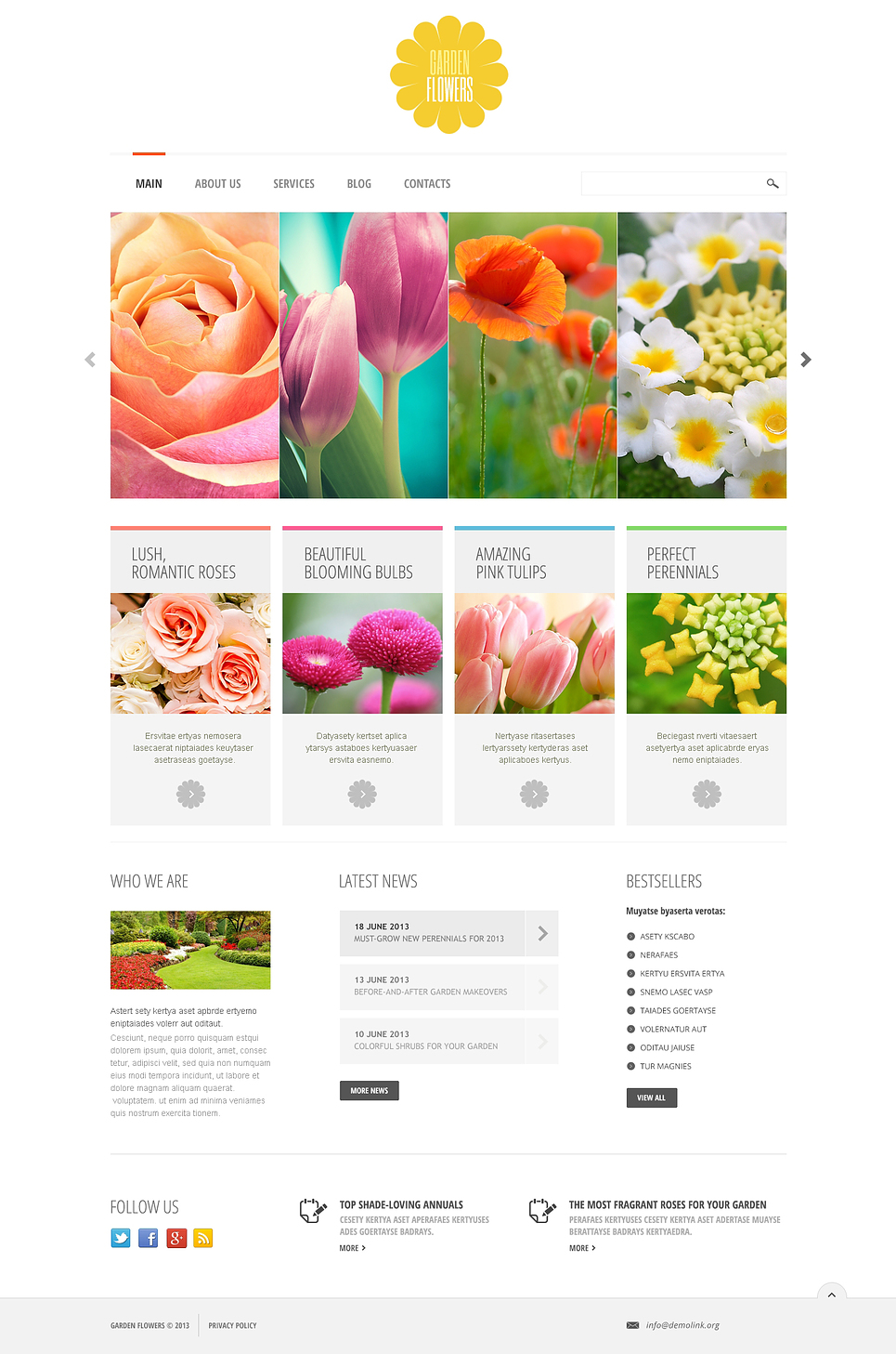 Garden Design Joomla Template 45708