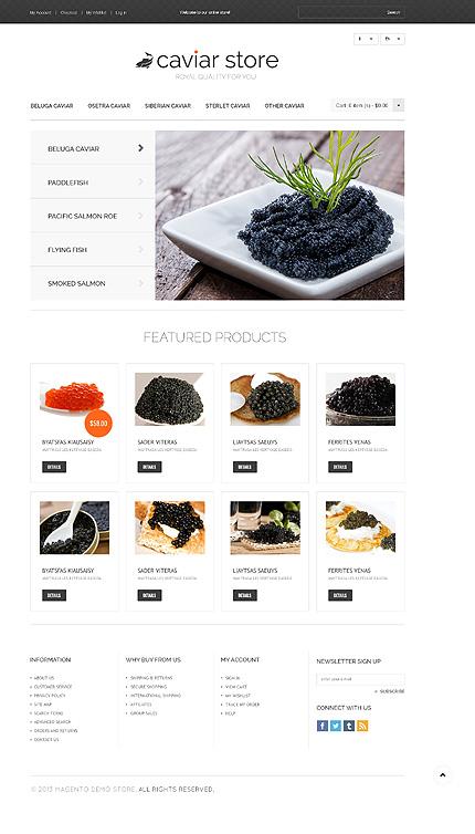 Caviar store - Apt Magento Food Store Template