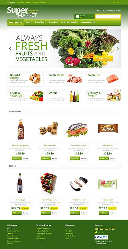 Super market - Excellent Magento Drink Store Theme