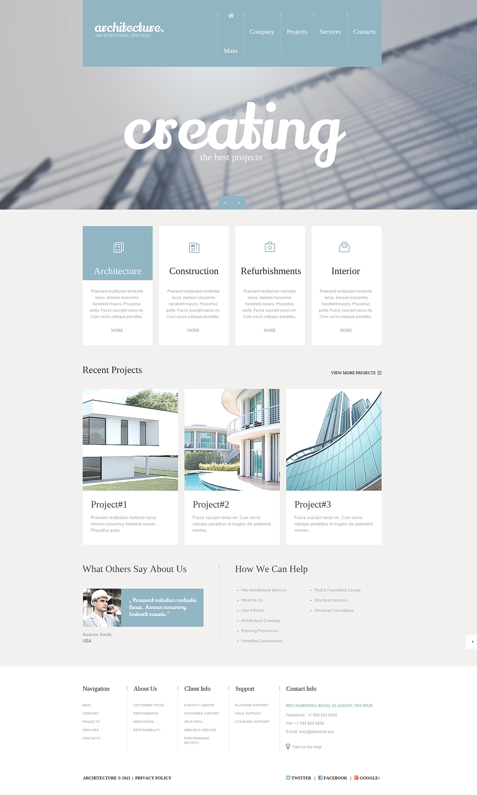 construction company responsive website template web design templates website templates. Black Bedroom Furniture Sets. Home Design Ideas