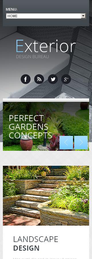 Exterior design responsive website template web design for Exterior design templates
