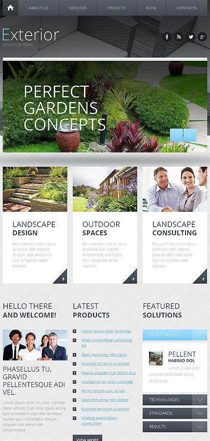 exterior design responsive website template web design templates website templates download. Black Bedroom Furniture Sets. Home Design Ideas