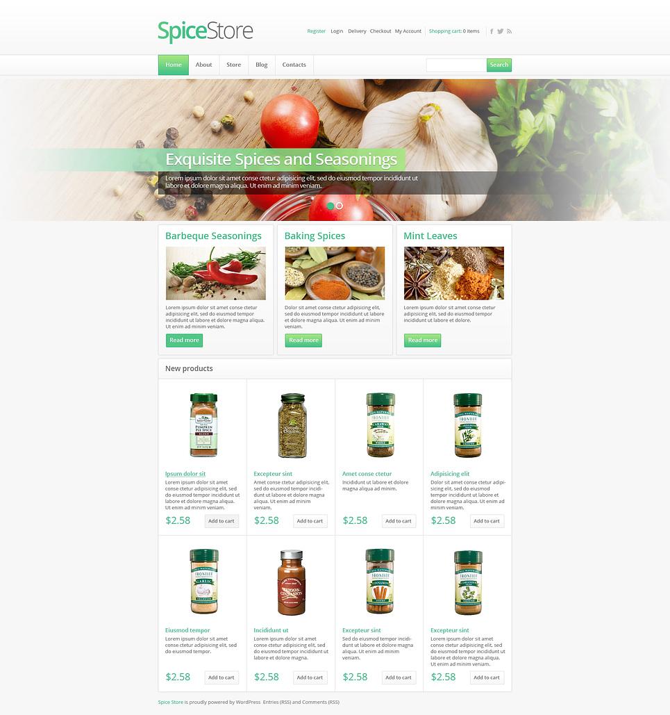 Flavorous Responsive Spice Store Jigoshop Theme