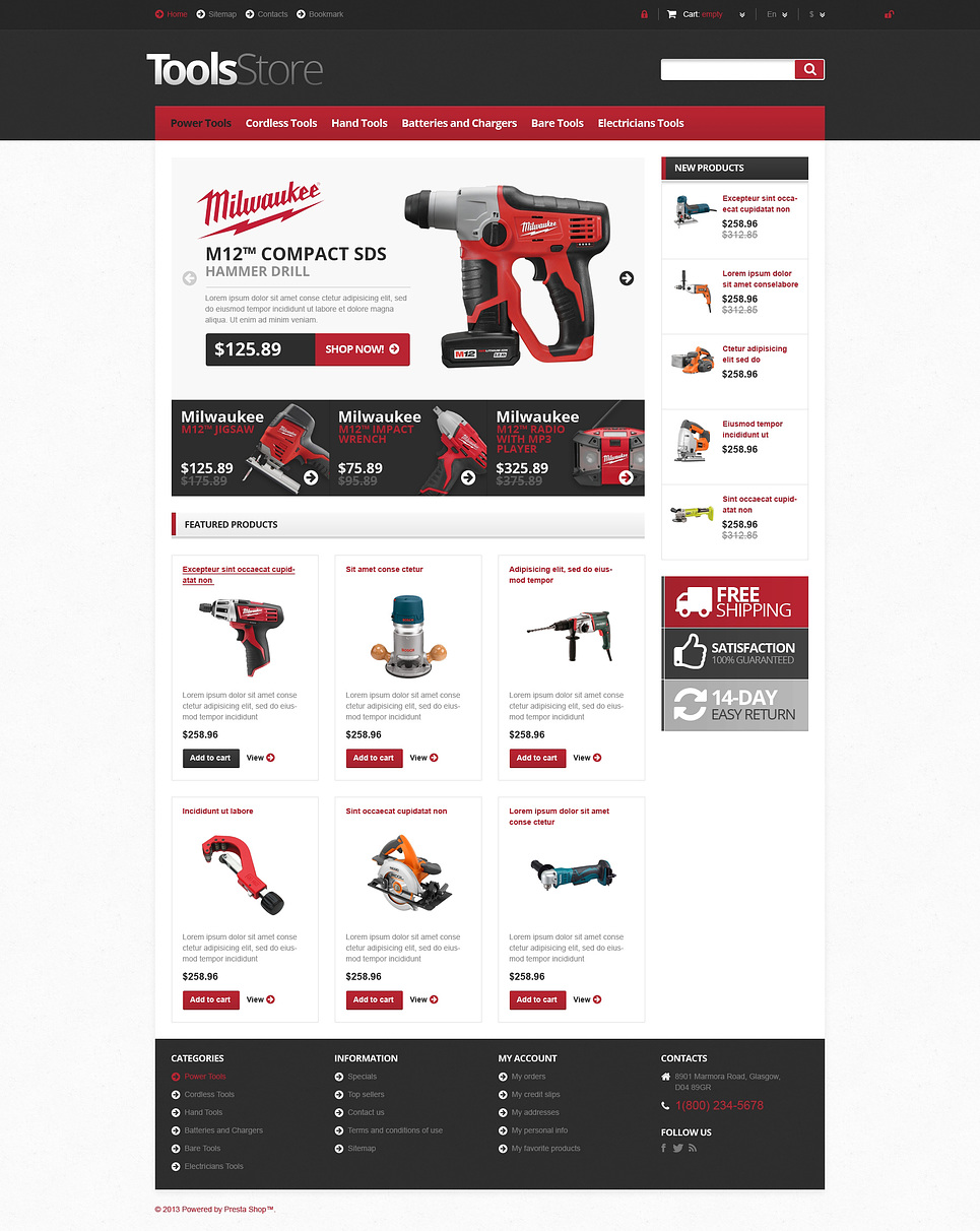 Perfect Responsive Tools Store PrestaShop Theme