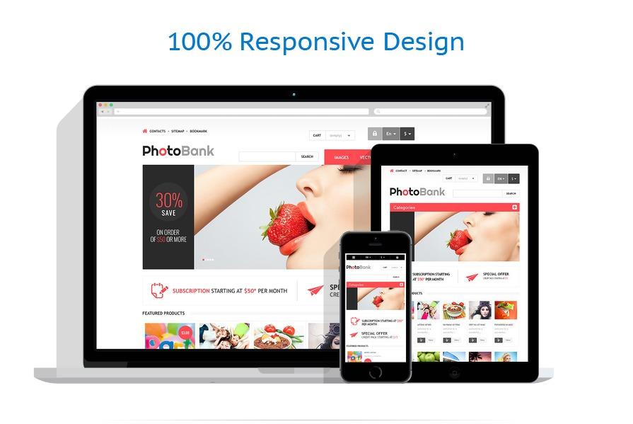 Responsive Photo Bank PrestaShop Theme