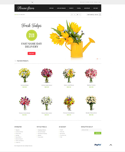 Flower store – Attractive Florist Store Magento Theme