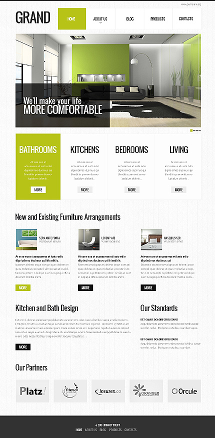 Grand Special - Responsive Interior Design Drupal Template