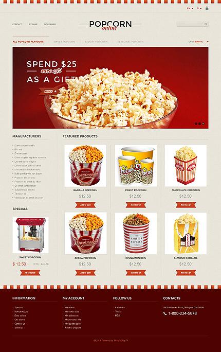Popcorn - Flavourful Food Store PrestaShop Theme