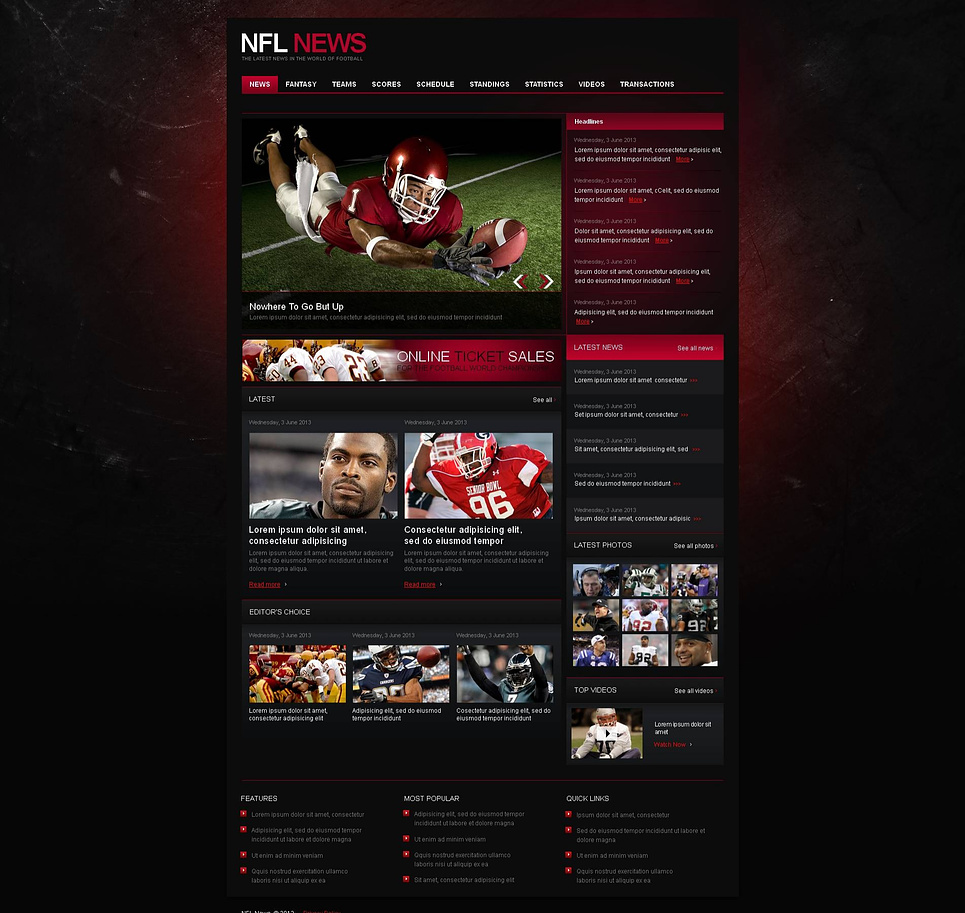 World of Football Website Template - image