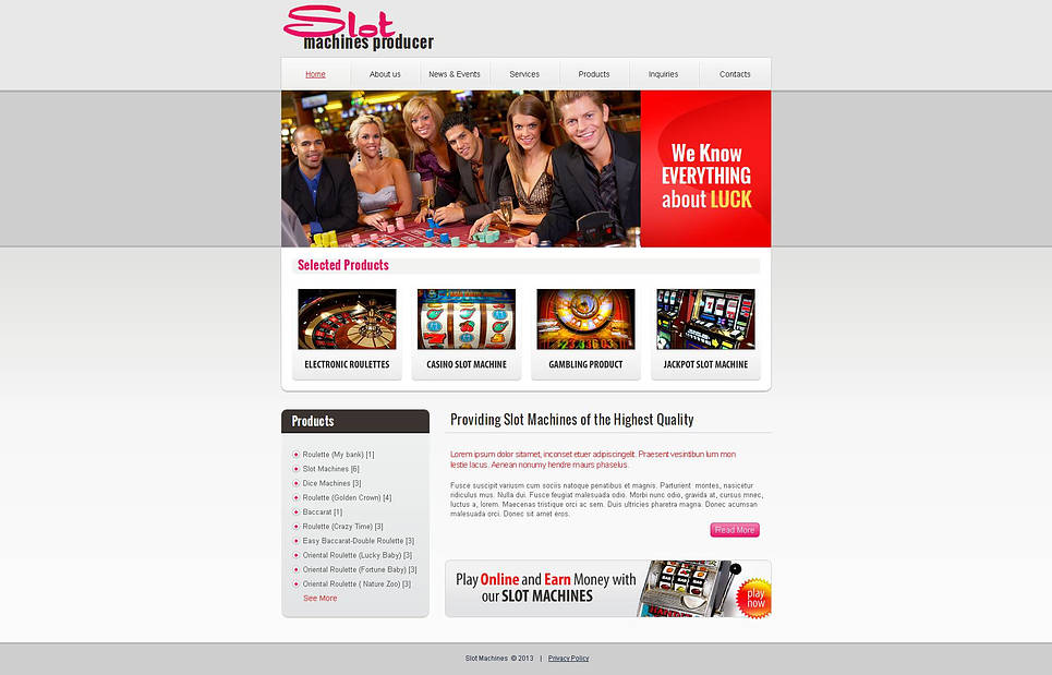 MotoCMS HTML Vorlage #45778 aus der Kategorie Online Casino - image