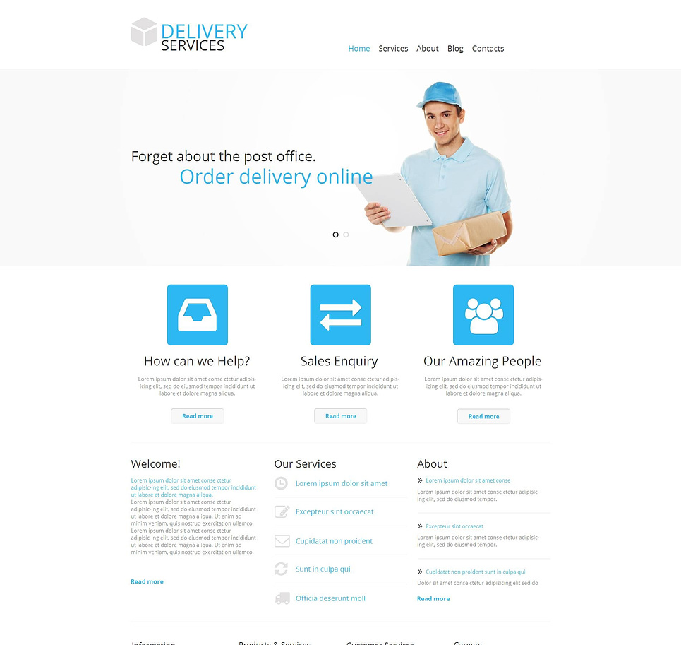White Delivery Services Website Template - image