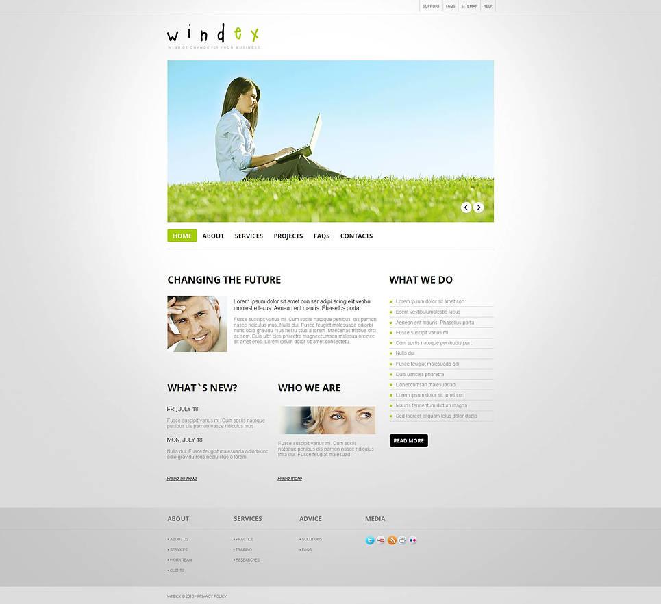 Simple Wind Energy Website Template - image
