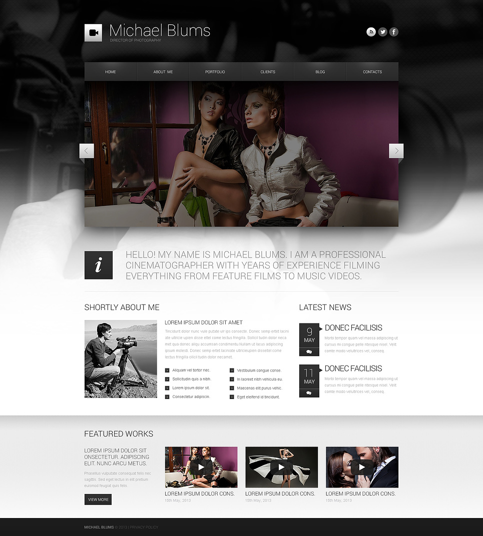 Ultimate Photographer's Works WordPress Theme